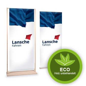 Nachhaltige Holz Displays