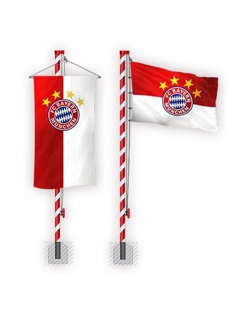 FC Bayern Fahnen Masten