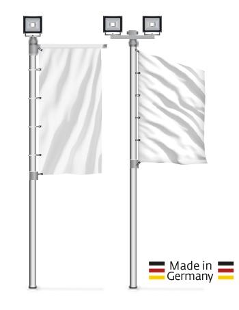 Aluminium-Masten mit LED-Fluter