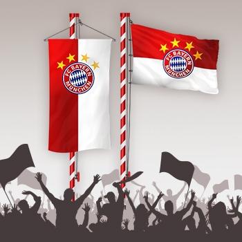 FC Bayern Fahnen Mast